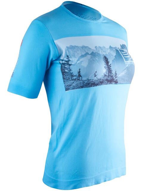Compressport Training T-Shirt Women Mont Blanc Edition Blue